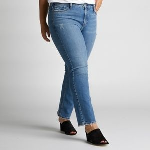 Silver jeans high rise frisco straight